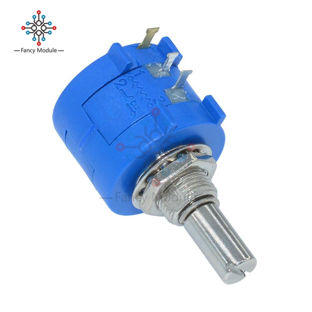2Pcs 3590S-2-103L 3590S 10K ohm Precision Multiturn Potentiometer 10 Ring Adjustable Resistor