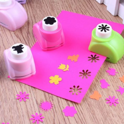 Punch-Cutter-Tool Hand-Shaper Craft Scrapbook Printing-Paper Mini Tags-Cards Child Kid