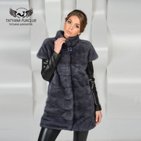 Tatyana Furclub Luxury Mink Vest,New Real Value Mink Coat With Collar,Female Fur Coat Natural Fur,Women's Mink Fur Coat Vest