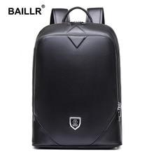Brand High Quality Genuine Leather Men Fashion Backpack Vintage School Bag Backpack for Teenagers