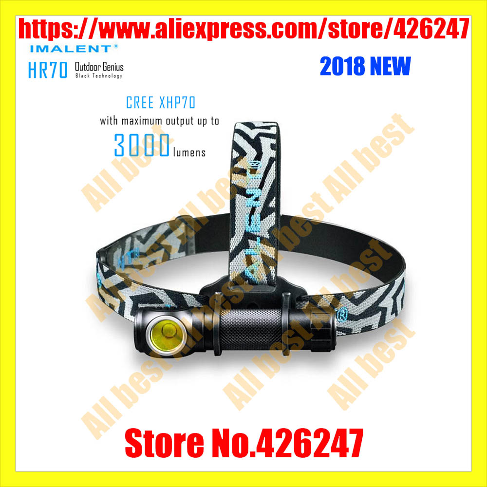 IMALENT HR70 headlamp CREE XHP70.2 LED max.3000lm rechargeable head light + 18650 3000mAh battery + USB charging cable headlight 3 6v 2400mah rechargeable battery pack for psp 3000 2000