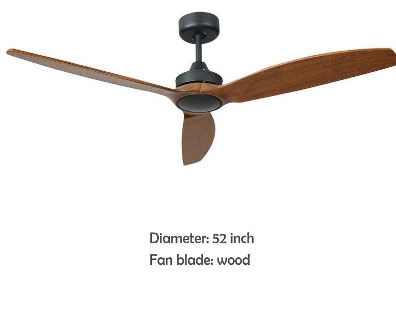 Декоративный потолочный светильник, промышленный деревянный потолочный вентилятор, деревянные потолочные вентиляторы без света AC 220V
