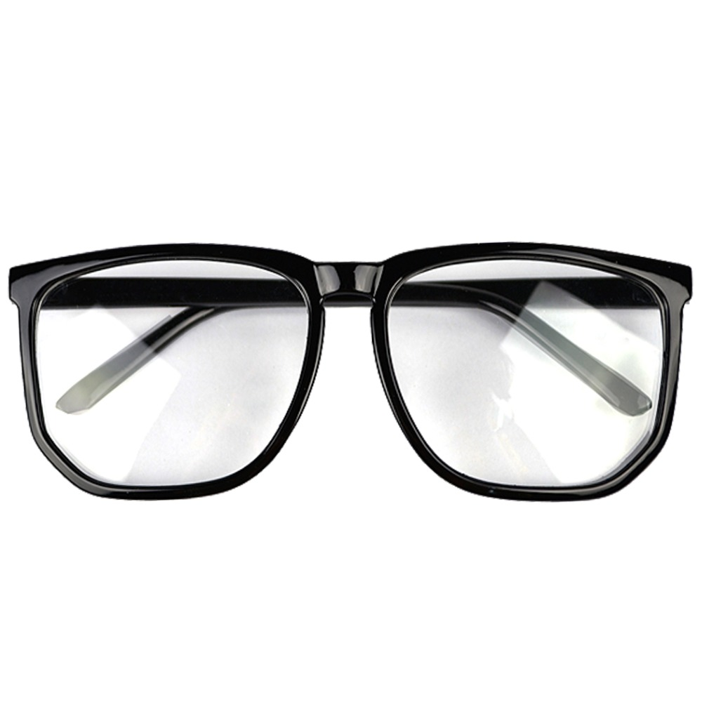 Fashion Plain Glasses Vintage big box Eyeglasses Frame Spectacles Frame Hot Plain Mirror Black Glasses for Female