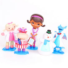 5 Buah/Set Doc Mcstuffins Check Up Waktu Muffin Naga Biru Dokter Domba Kuda Nil PVC Action Figure Collectible Model Toy Opp 8 Cm B225(China)