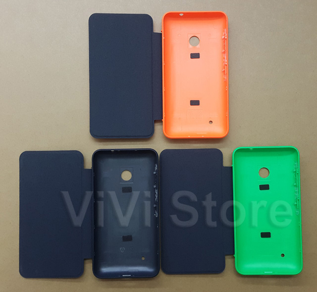 super cute 48c37 f7463 US $4.99 |Less But Better Original New Flip Cover for Nokia lumia 530 Back  Cover&Flip leather Style Housing Replacement with side button-in Mobile ...