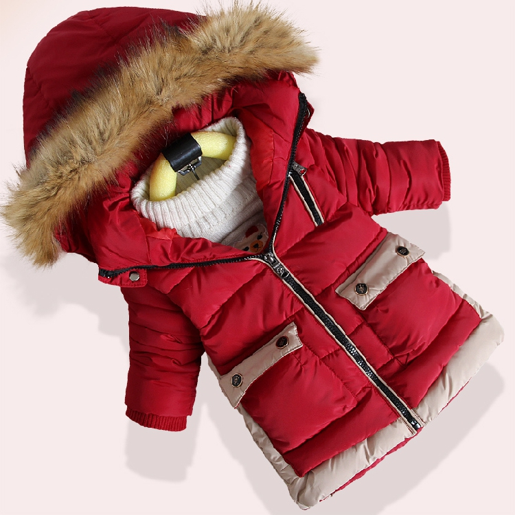все цены на Children's cotton coat boy 2018 years old winter children's clothing new long section thick coat winter cotton jacket anti-FREE онлайн