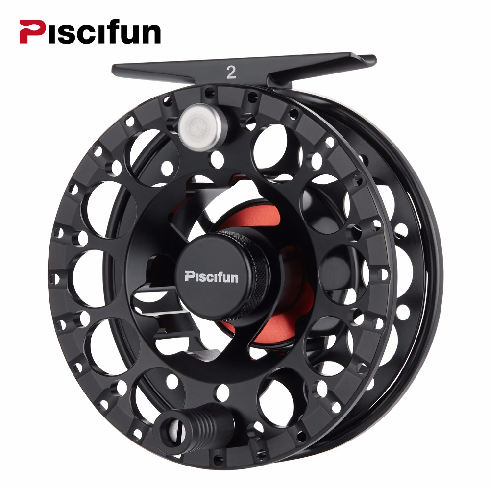 Piscifun Sword II Black Fly Reel 3/4 5/6 7/8 Sealed Drag Lighter CNC Machined Aluminium Alloy Right Left Hand Retrieve Fly ReelPiscifun Sword II Black Fly Reel 3/4 5/6 7/8 Sealed Drag Lighter CNC Machined Aluminium Alloy Right Left Hand Retrieve Fly Reel