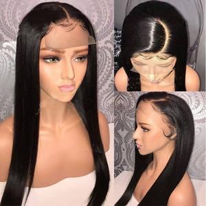 Image 2 - Eseewigs משי בסיס מלא תחרת שיער טבעי פאות טבעי תינוק שיער סביב מראש קטף שיער קו משיי ישר ברזילאי רמי שיער