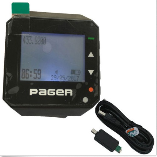 Montre téléavertisseur sans fil téléavertisseur pocsag système de radiomessagerie récepteur 1 pc câble de programmation d'identification alpha montre