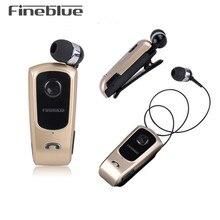 Беспроводные Bluetooth наушники FineBlue F920, гарнитура, наушники вкладыши, гарнитуры с поддержкой звонков, напоминания о вибрации, с зажимом для воротника