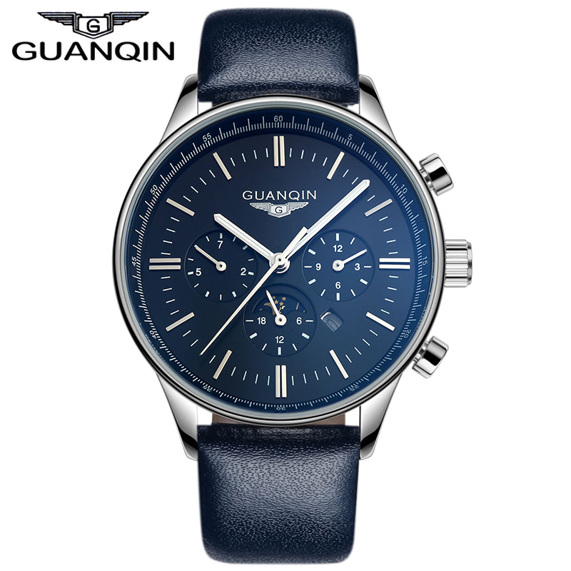 GUANQIN GQ12003 Watches Men Luxury Top Brand New Fashion Men's Big Dial Designer Male Wristwatch relogio masculino relojes watches men luxury top brand luxury new fashion men s big dial designer quartz watch male wristwatch relogio masculino relojes