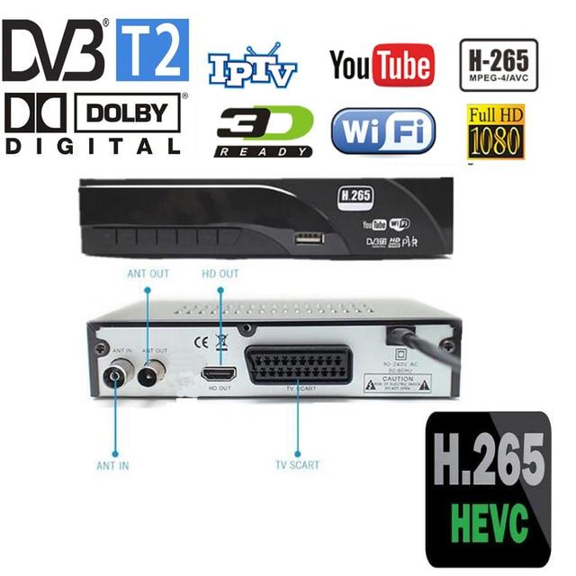 DVB-T2 דיגיטלי מקלט תמיכה H.265/HEVC/H.264 H265 קוד תואם HD DVB-T עם dolby ac3 מכירה לוהטת צ 'כי הולנד גרמניה