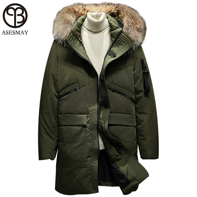 Asesmay Mens Down Parka Feather Jacket Men's Down Jackets ...