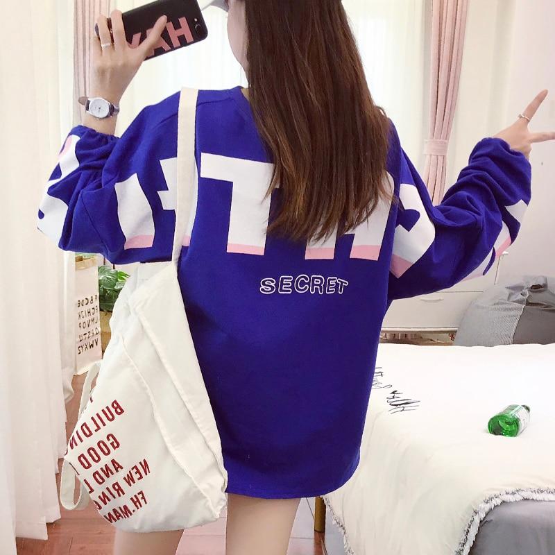 korean style t shirt women 2018 autumn harajuku kawaii lette