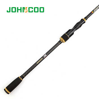 JOHNCOO Spinning Rod with Case Light weight Rod Fast Action 5-20g Casting Fishing Rod Carbon Travel Rod 4 Sections jig Rod