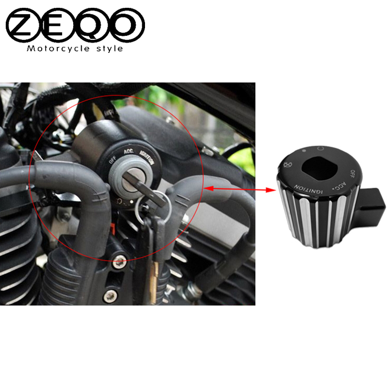 Motorcycle Accessories Moto Parts CNC Aluminum Ignition Switch Cover For Harley Sportster 883 1200 2000-2016 Year