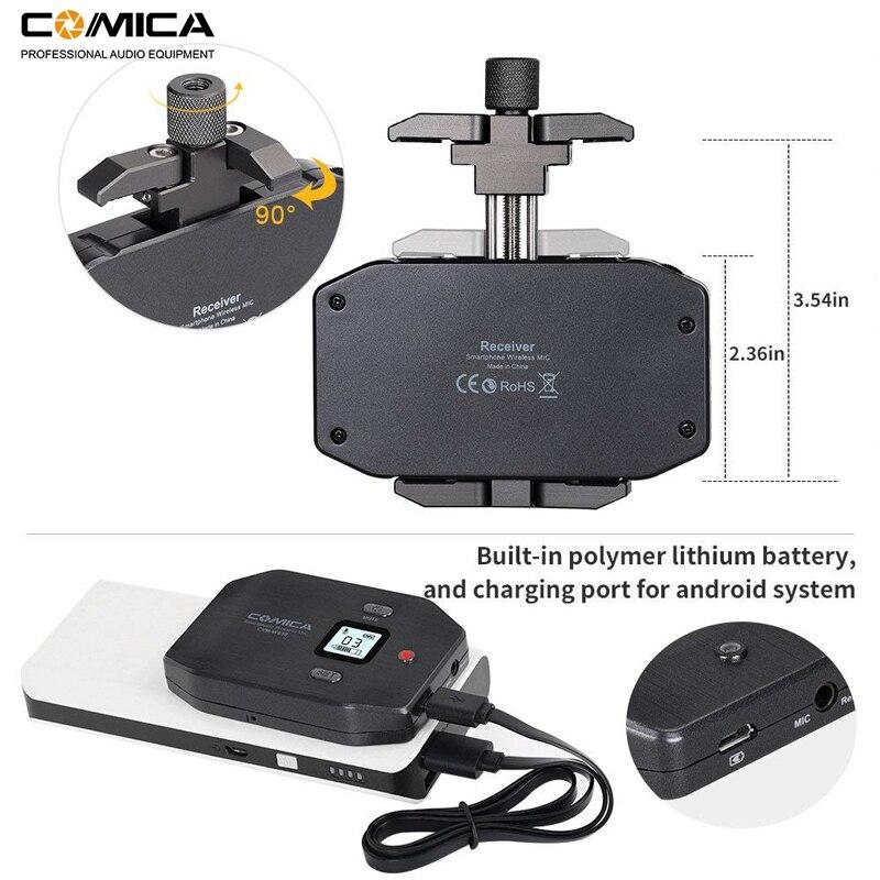 Image 3 - Micrófono inalámbrico para teléfono inteligente Comica CVM WS50 (C) 6 canales micrófono solapa Lavalier para iPhone Samsung Huawei teléfono Androidmicrófonos   -
