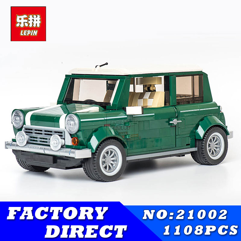 LEPIN 21002 1108pcs Technic Series MINI Cooper Model Building Blocks Bricks Toys for Children Gift Compatible With 10242 Kits lepin 24020 creative series features robo explorer set 31062 model building kits block bricks toys gift for children