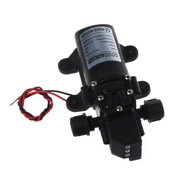 DC 12V 130PSI 6L/Min Water High Pressure Diaphragm Self Priming Pump 70W 70w dc 12v 130psi 6l min water high pressure diaphragm self priming pump