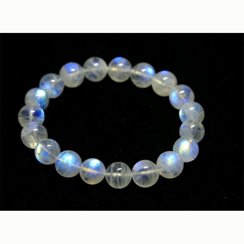 Discount Wholesale High Quality Natural Genuine Rainbow Moonstone Stretch Bracelet Round Beads crystal 6 14mm