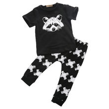 Baby Girls Boys Cotton Tops T-shirt Pants Leggings 2pcs Outfits Clothes Set Costume(China)