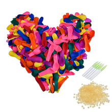 111pcs Water Balloons+111pcs Rubbers Bunch Balloons Supplementary Package Bombs Toys Kids Summer Beach Games Party Supplies