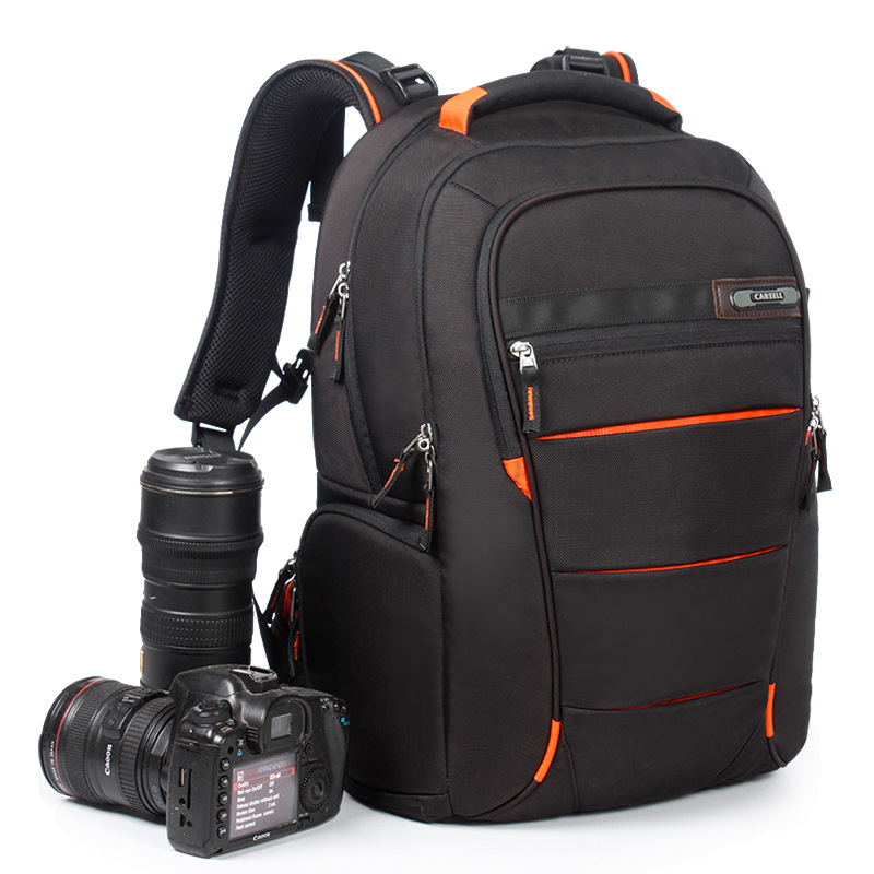 CAREELL Camera Photo Shoulders Backpack Universal Large Capacity Travel Backpack Half open Full open for Canon