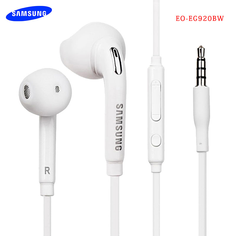 Original Samsung Earphone Stereo Sound Bass Earbuds With Mic Volume Control For Galaxy S6 S7 Edge S8 S9 S10 Plus Note 3 4 5 8 9