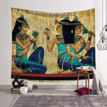 PEIYUAN Egpt Home Decorative Wall Tapestry Hanging Carpet Comfortable Sofa Cover Egyptian Pharaoh Bath Towel Coustom