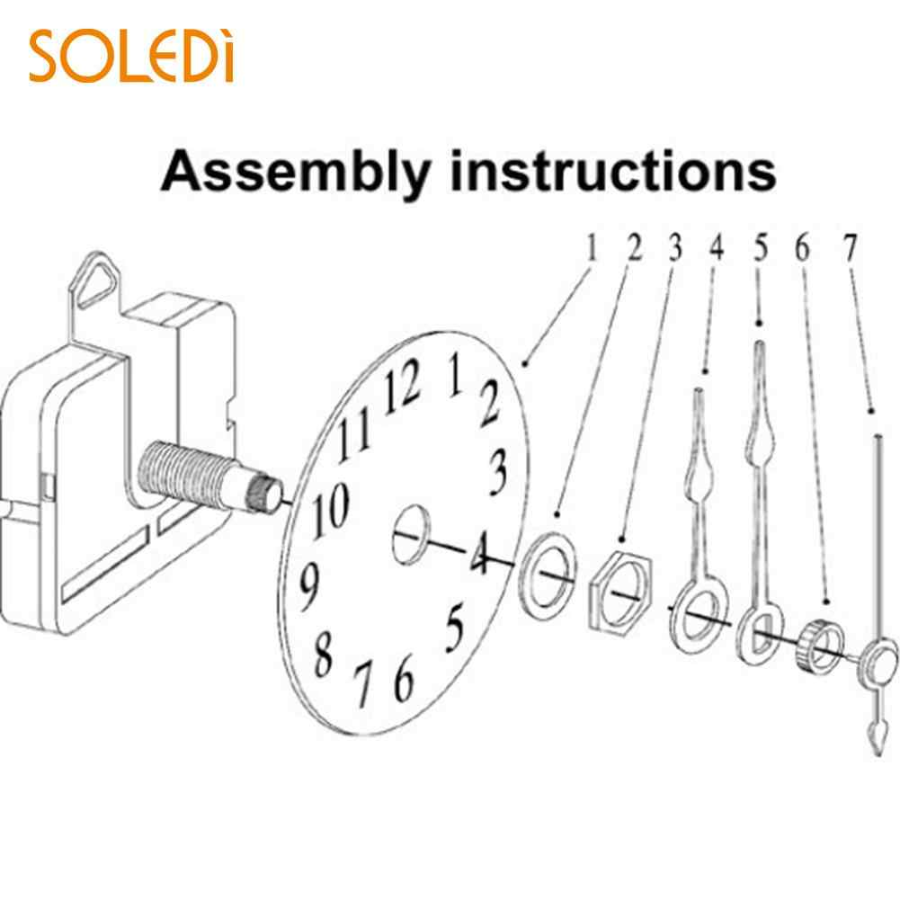 Quality Clock Movement Mechanism Parts Repair Tool Set with Gold Hands on
