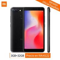 Global Version Xiaomi Redmi 6 3GB 32GB Smartphone MTK Helio P22 Octa Core CPU 5.45 Inch 18:9 Full Screen 12MP+5MP AI Dual Camera