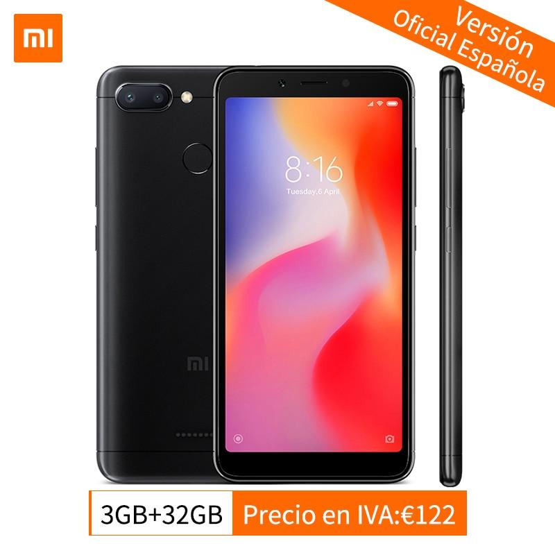 Globale Versione Xiaomi Redmi 6 3 gb 32 gb Smartphone MTK Helio P22 Octa Core CPU 5.45 pollice 18:9 Pieno schermo 12MP + 5MP AI Doppia Fotocamera
