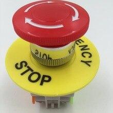 Красный гриб Кепки 2NC DPST аварийной остановки кнопочный переключатель AC 660 В 10A E-выключатель