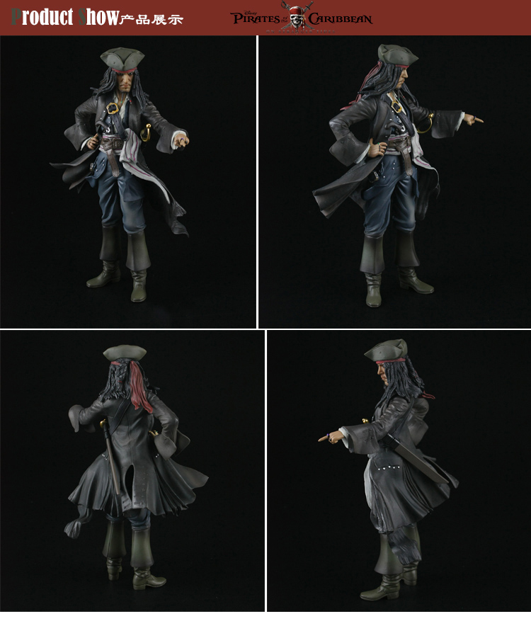 28CM Crazy Toy Pirates of the Caribbean Jack action figure collectible model toys for boys crazy toys pirates of the caribbean jack sparrow pvc action figure collectible model toy 12 30cm
