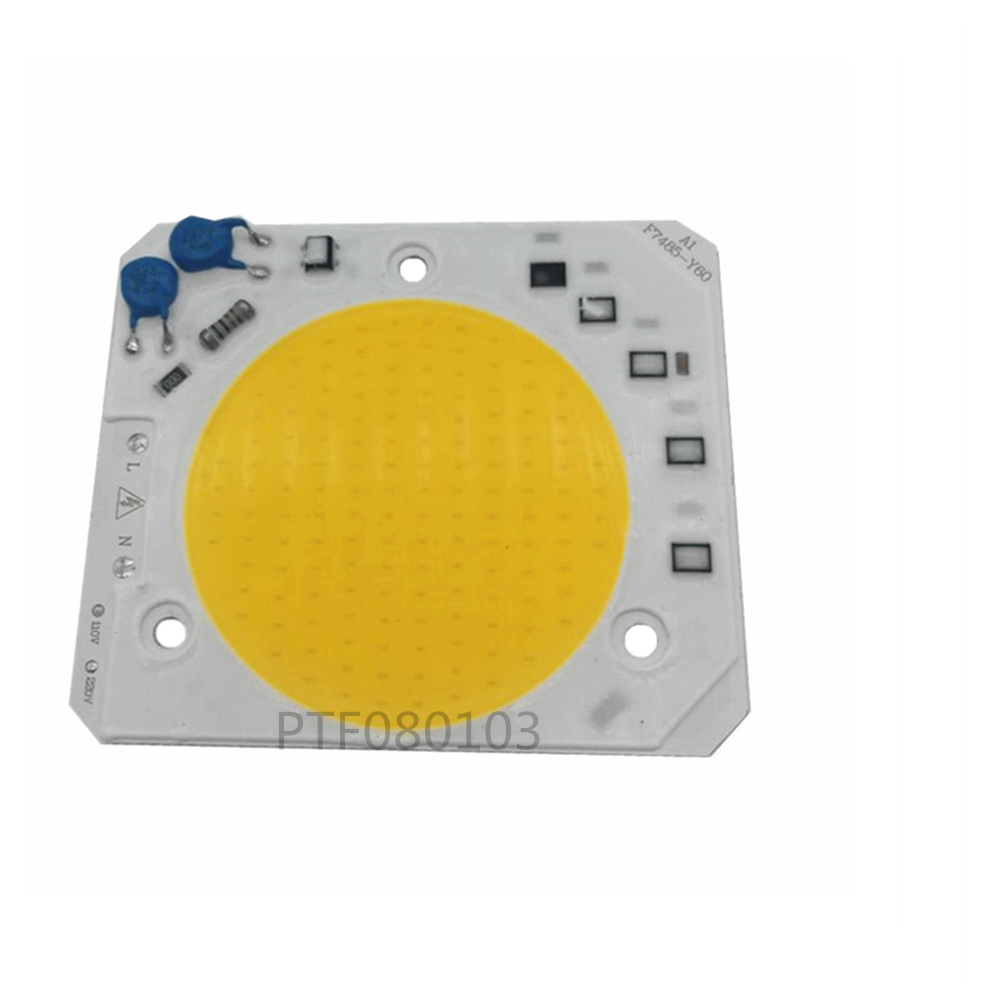 50W 220V Warm White IP65 Floodlight High Power Integrated LED COB Chip 50W 220V Matrix LED Spotlight DIY Flood Light Outdoor Str