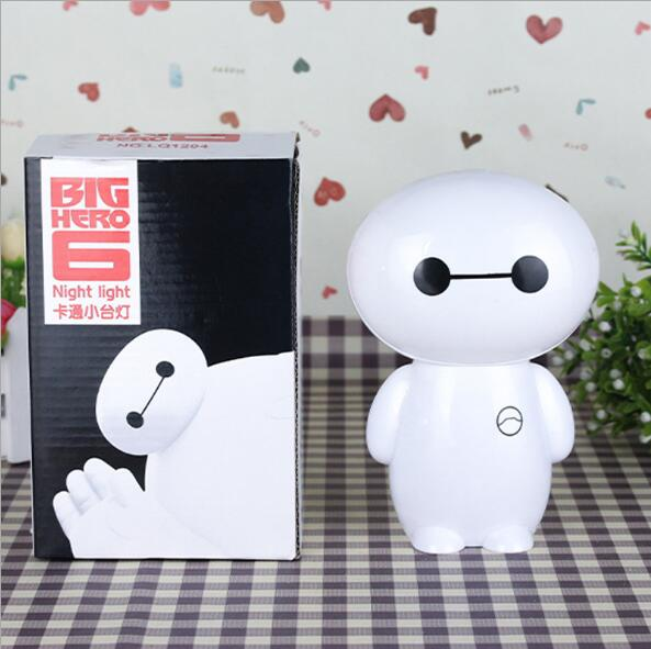 Cartoon LED Lamp Plastic Baymax Lamparas 3d Scalable Folding Led Portable Rechargeable Night Light For Chlidren