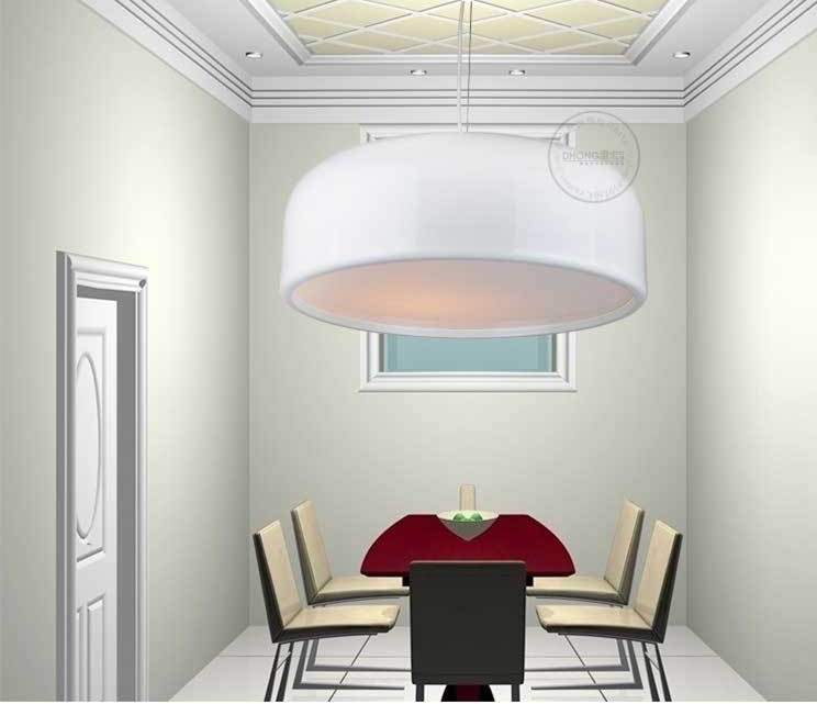 Modern Home White Color  Smithfield Semicircle Pendant Light Circle Dining Room Light Restaurant Lamp D35/48/60CM Free Shipping free shipping ems fashion pendant light bronze color pendant light restaurant lamp pendant light rustic lpendant