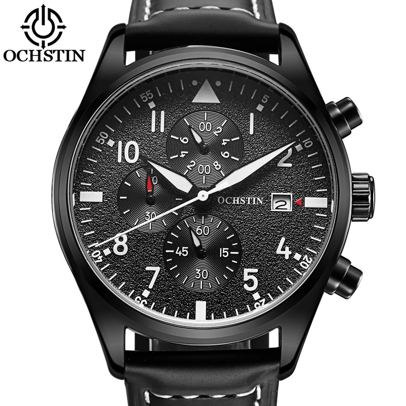 OCHSTIN Chronograph Men's Wrist Watch Men Sport Clock Male Casual Top Brand Luxury Quartz Watches Military Army Clocks Gift 043B curren fashion watches men top brand luxury wrist quartz watch male men sport clock military design casual men s gift clocks