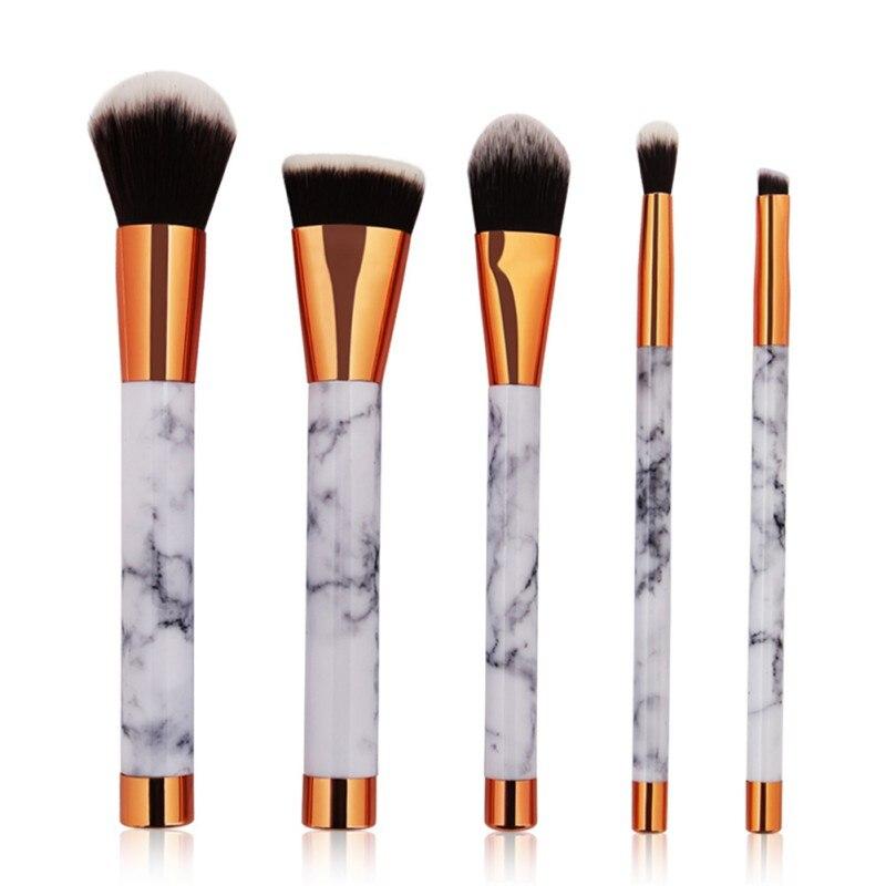 5pcs Makeup Brushes Tool Set Marble Texture Style Makeup Brush Foundation Powder Cosmetic Brush Tools Kits New Arrival
