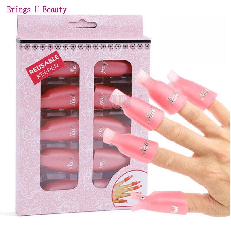 Dedicated 10 Pcs/lot Reusable Uv Remover Gel Polish Nail Art Soakers Uv Nail Degreaser Polish Wrap Tool Nails Soak Off Cap Clip Plastic Beauty & Health