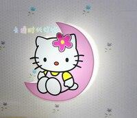 LED Modern Wall Lamps Children Baby Kids Bedroom Bedside Lamp Cartoon Hello Kitty Shape 90 260V Originality Novelty Light