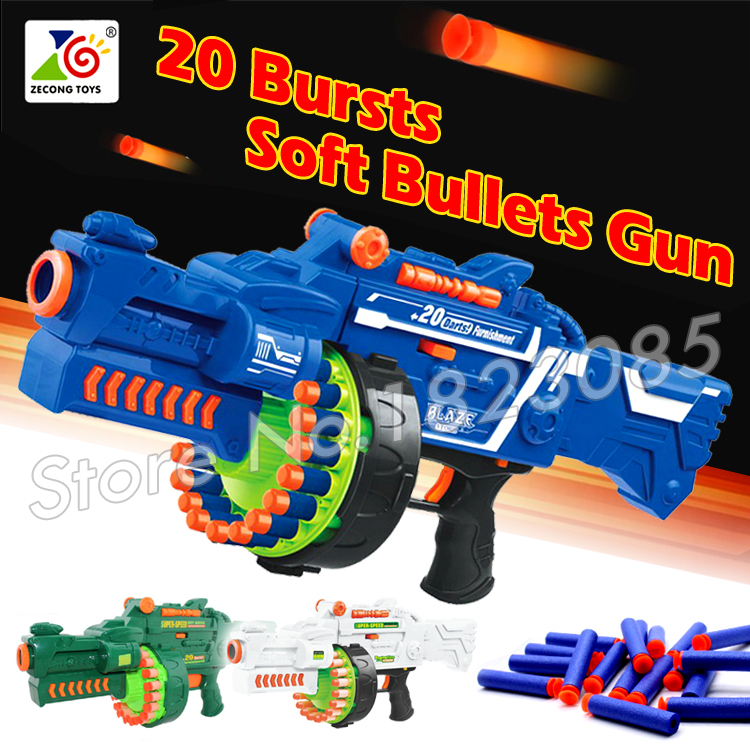 56cm 2016 Big Toy Gun Soft Bullet Electric Machine Gun Army Toys CS Game  Gift For Child Boys 20 bursts Blaze Storm-in Toy Guns from Toys & Hobbies  on ...