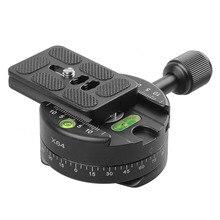 Profissional câmera dslr tripé monopé panorâmica panorama cabeça com placa de liberação rápida para canon nikon sony câmera