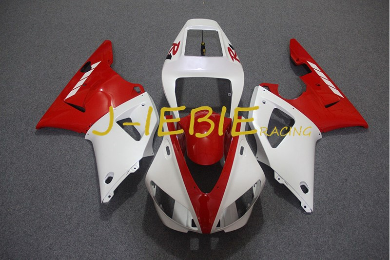Red white Injection Fairing Body Work Frame Kit for Yamaha YZF 1000 R1 1998 1999