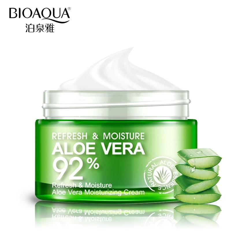 Bioaqua aloe vera gel essência creme de rosto hidratante caracol clareamento creme acne remoção da cicatriz creme coreano cosméticos cuidados com a pele