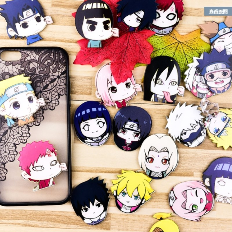 1PC Acrylic Anime Naruto Kakashi Brooches Backpack Kakashi Tips Brooch Badge Clothes Brooches Pins Bag Decor Brooch Badges