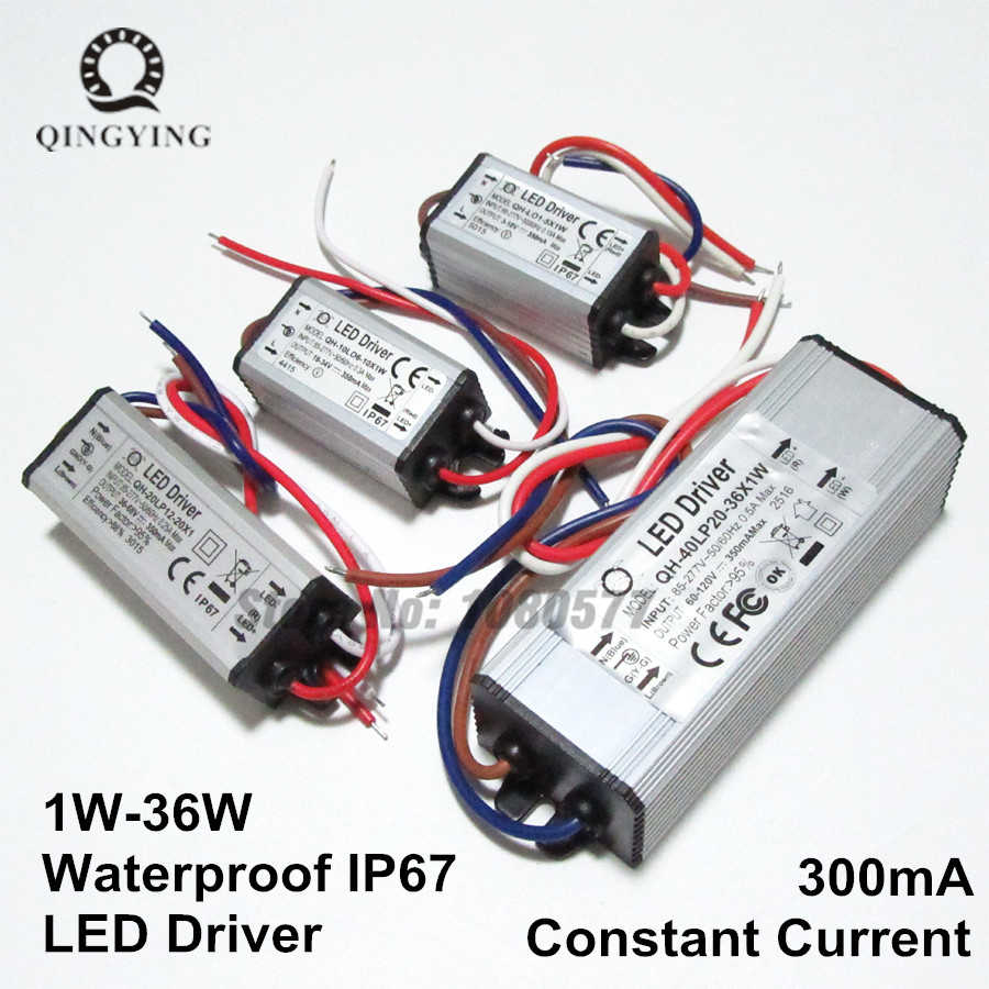 300mA 600mA 900mA высокое стабилизатора тока светодиода 1 Вт, 5 Вт, 10 Вт, 20 Вт, 30 Вт, 36 Вт, 40 Вт, 50 Вт, 60 Вт постоянный современное освещение трансформаторный источник питания