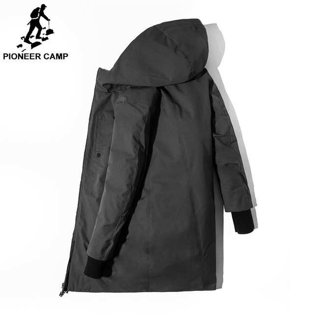 06d8aac8d29 Pioneer Camp 2018 Warm hand design men brand clothing long winter thick  warm duck down jacket male top quality AYR801411