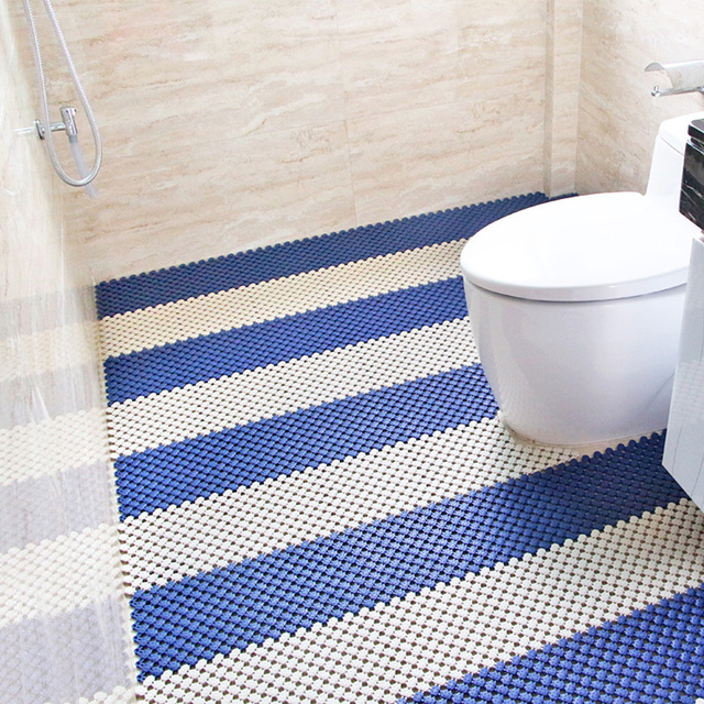 Mosaic bathroom floor mats non-slip toilet mat impermeable pad shower hydrophobic plastic waterproof