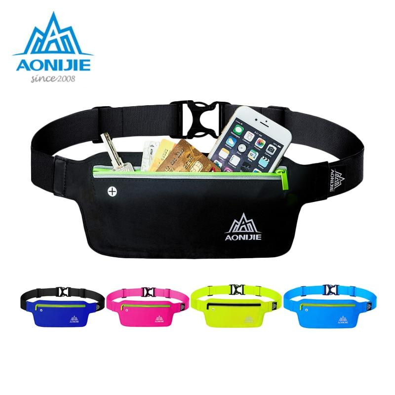 AONIJIE Running Bag Waist Pack Belt Waterproof Nylon Waist Pocket Lightweight Tight Phone E848 For Outdoor Sport Jogging Maratho